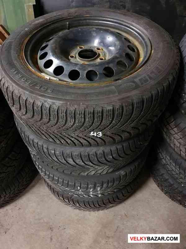 Plechove disky orig. Opel s pneu michelin 5x115 6. (1/3)