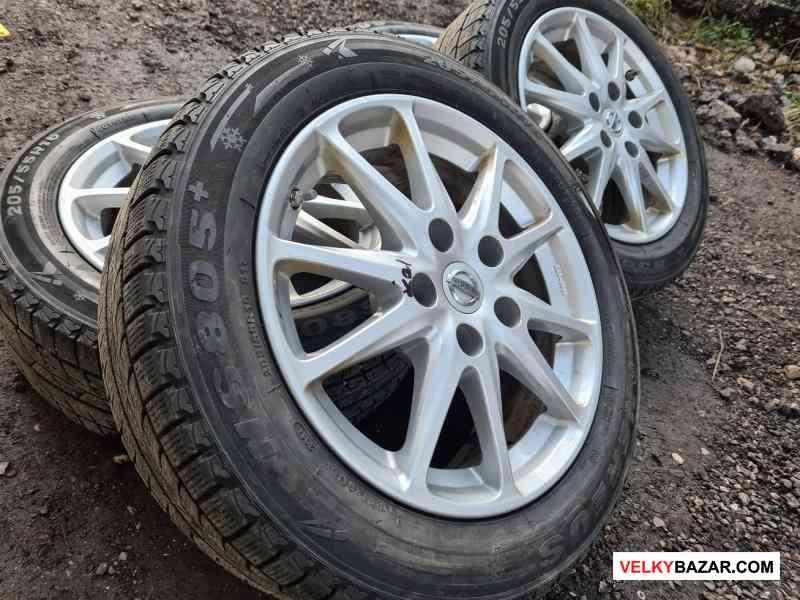 Alu kola disky orig Nissan s čidlama tlaku v pneu (1/5)