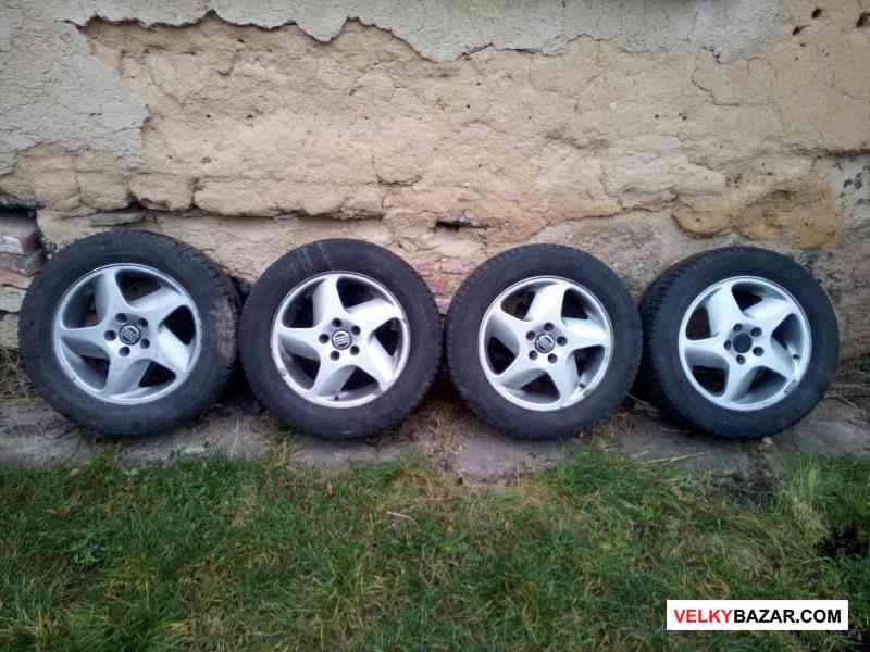 Alu disky rozteč 5x108, 4 x zimní pneu (1/5)