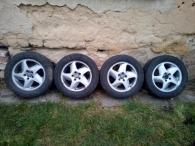 Alu disky rozteč 5x108, 4 x zimní pneu