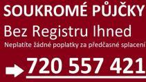 Půjčka bez registru ihned na účet - 720557421