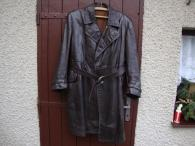 Starožitný retro kožený kabát na auto moto veterán