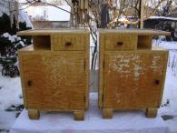 Dva retro starožitné noční stolky Art Deco ArtDeco