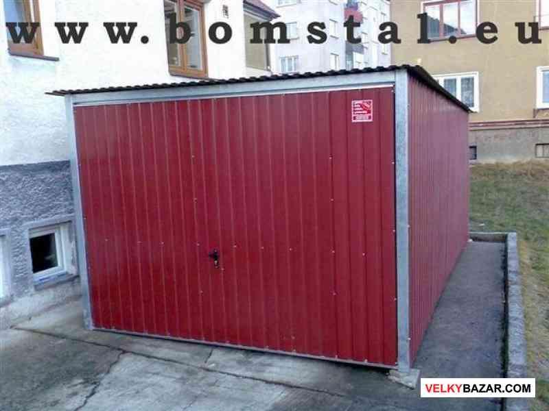 Plechové garáže - AKCE - doprava a montáž zdarma (1/4)