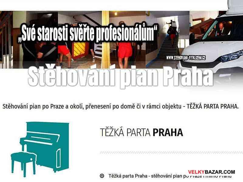 Stěhování a vyklízení pian - těžká parta Praha (1/1)