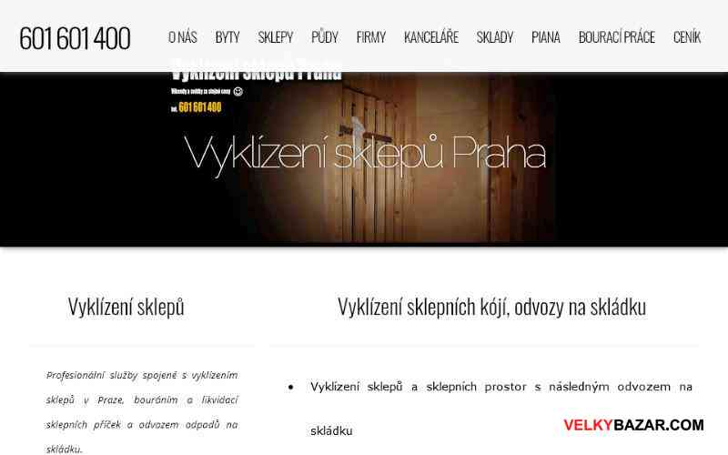 Vyklízení sklepů Praha - odvozy na skládku (1/1)