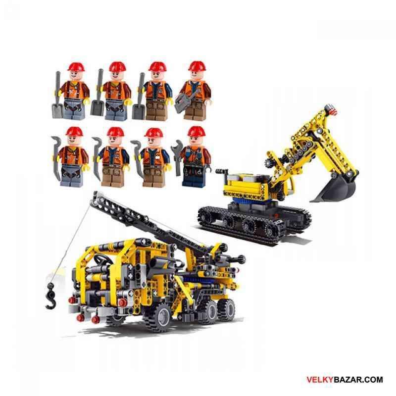 Technic bagr crane, stavebnice, mega sada! 906 blo (1/5)
