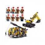 Technic bagr crane, stavebnice, mega sada! 906 blo