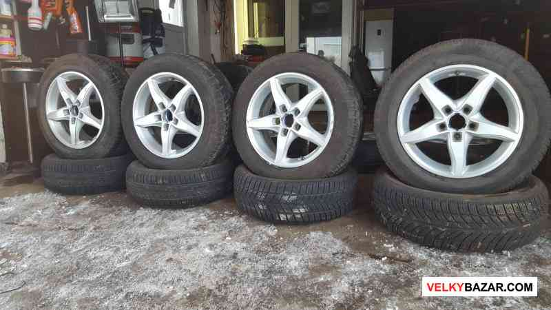 alu kola plw 5x112 7jx16 et46 pneu 205/60 r16 dunl (1/3)