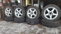 alu kola plw 5x112 7jx16 et46 pneu 205/60 r16 dunl