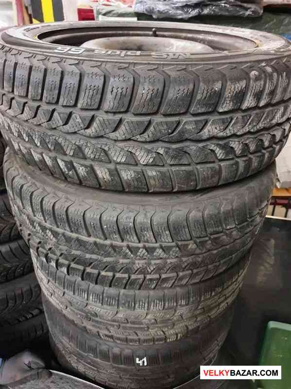 Plechove disky orig. Opel GM s pneu uniroayl 5x110 (1/3)