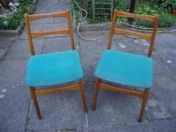 2x retro židle zachovalé 70. roky světle modré