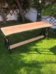 Stůl dubová fošna + litinové nohy